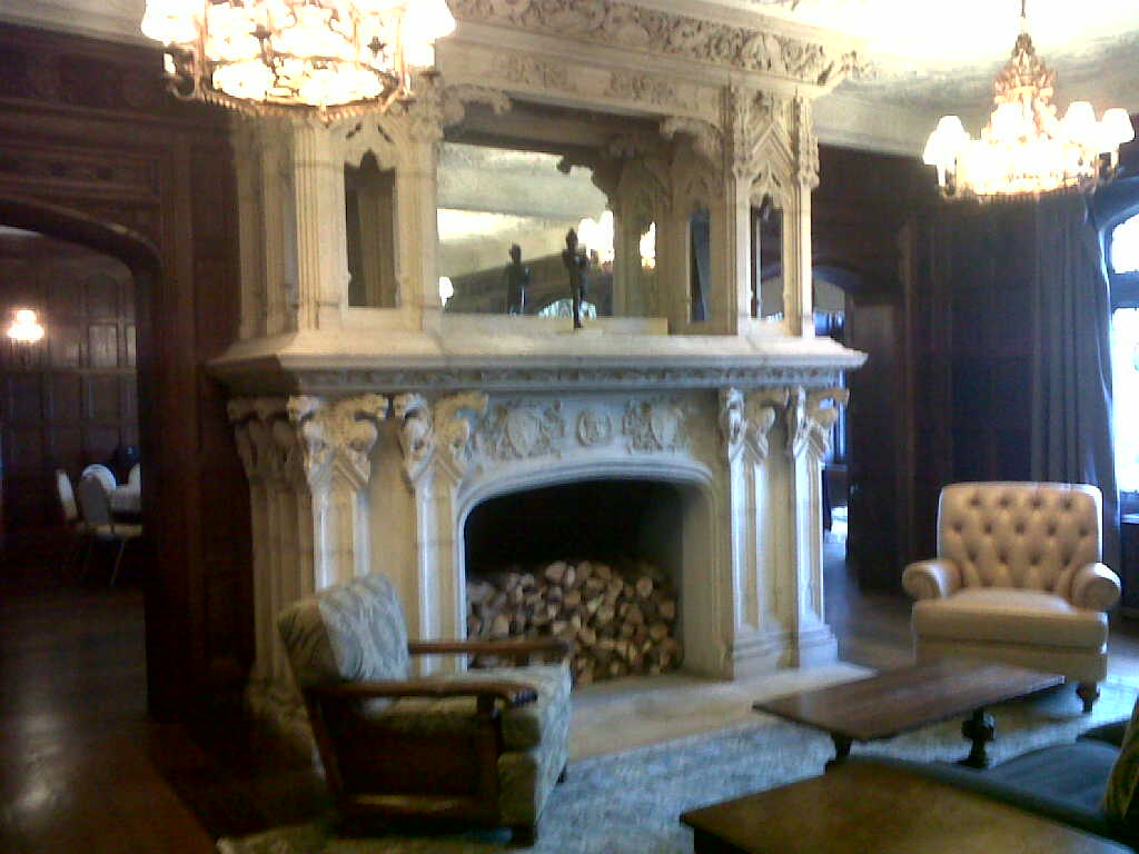 17th Century Stone Fireplace - Milll Neck Manor NY